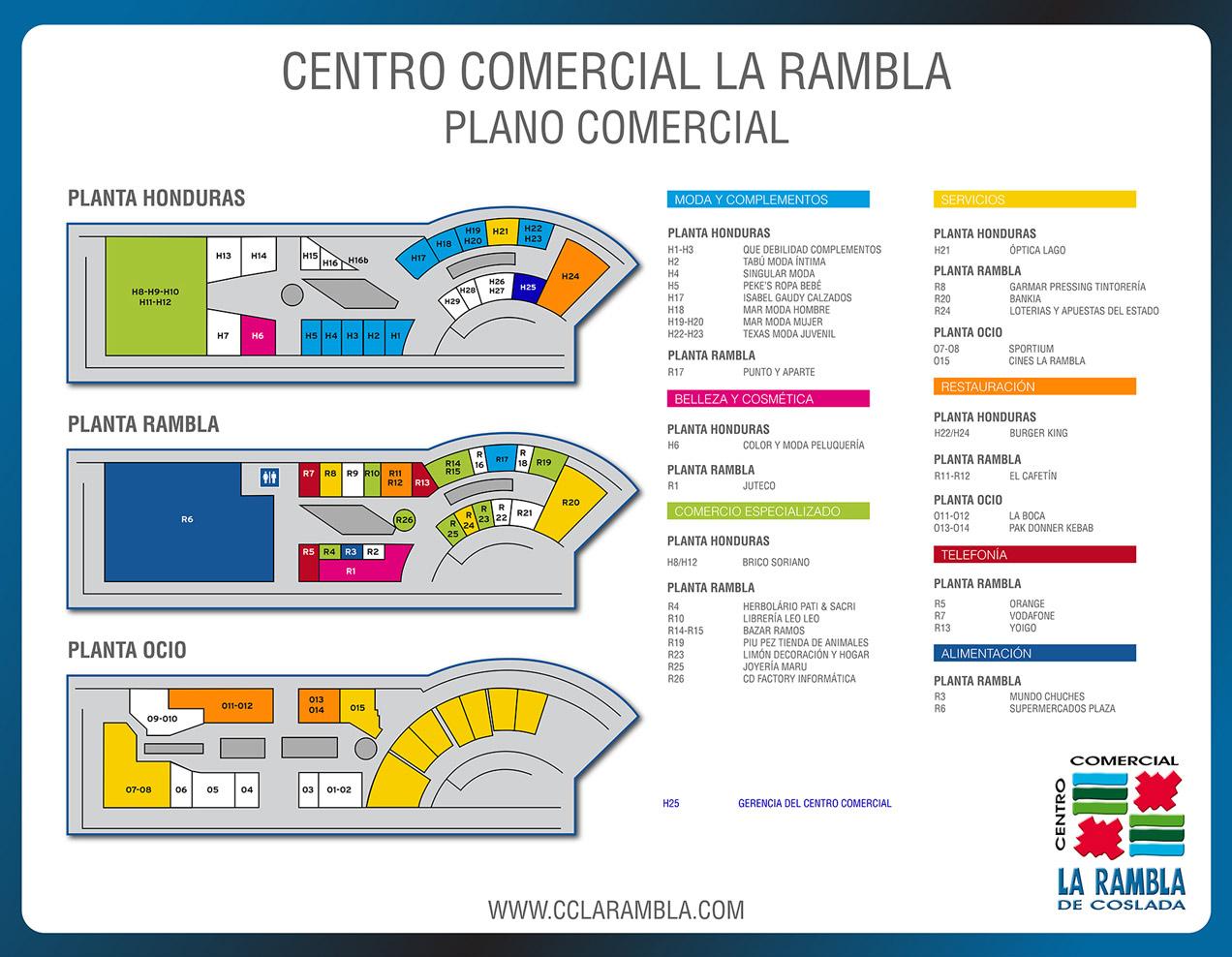 Plano cc la rambla - La illa centro comercial ...